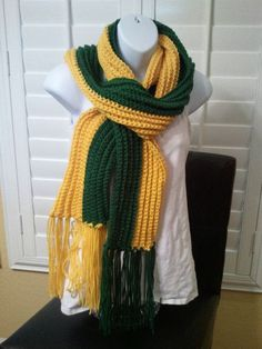 dcfdf2367e659a PACKERS SCARF! ~ Perfect for Lambeau Field! by SewCraftCrazy4U on Etsy  Football Cheer,