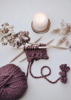 Knitting mittens Hand cuffs Knitting needles Handmade Crafting