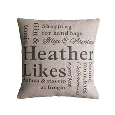 personalised 'likes' cushion cover by vintage designs reborn | notonthehighstreet.com