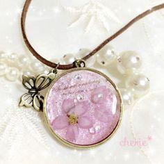 本物のお花 桜 ネックレス レジン