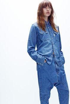 vintage western shirt | super lo slung jean
