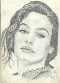 Inés Sastre (Dibujo de 1991)