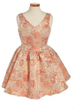 #Un Deux Trois            #Dresses                  #Deux #Trois #Jacquard #Dress #(Big #Girls) #Coral #Taupe                     Un Deux Trois Jacquard Dress (Big Girls) Coral Taupe 10                                                 http://www.snaproduct.com/product.aspx?PID=5158164