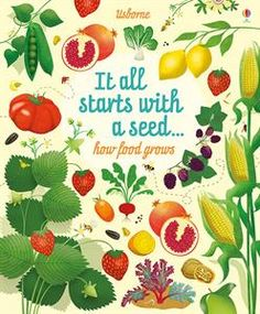 Wonderful book for kids about how their food grows in nature.