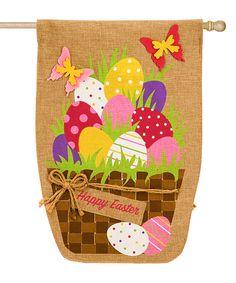 Easter Egg Basket Outdoor Flag