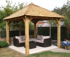 When it has to do with relaxing outside, we like to consider a gazebo as the ideal backyard getaway. For those things you may increase the gazebo afterwards enjoy a hot tub or fire pit is left up to you… Continue Reading → Pergola D'angle, Hot Tub Gazebo, Gazebo Canopy, Outdoor Gazebos, Backyard Gazebo, Pergola Kits, Cedar Pergola, Pergola Lighting, Landscape Lighting