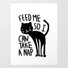 Cat Nap Art Print by emilyp
