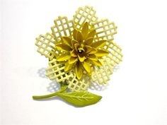 Vintage Enamel Brooch Yellow Flower Pin Gift for Her Gift for Mom Holiday Gift Idea Under 20 Hostess Gift  Such a pretty pin, this bright yellow flower enamel brooch is a wonderful gift idea! The waffle design is so cute! There are some flea bites enhanced in picture 2. Its still a gorgeous piece. You can gift, you can use as a package decoration or card ornament? A brooch can be worn on a hat, outfit, purse or bag, the ideas are endless. Its bright and vibrant and in excellent used vintage…