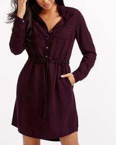 454310241a6 See more. Drawstring Solid Shirt Dress - Reitmans -  69.90 normally