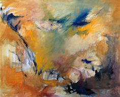 Yellow (2004), painted by Mieke Siemons, gouache om paper, 50 x 60 cm (sold)