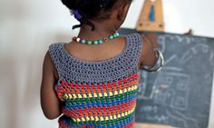 Rainbow Dress - Free Pattern from Crochet at Play by Kat Goldin