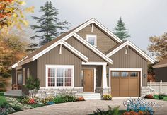 Find your dream bungalow style house plan such as Plan which is a 1700 sq ft, 3 bed, 2 bath home with 1 garage stalls from Monster House Plans. Narrow Lot House Plans, Garage House Plans, Bungalow House Plans, Bungalow Homes, Craftsman Style House Plans, Country House Plans, Car Garage, Plan Chalet, Drummond House Plans