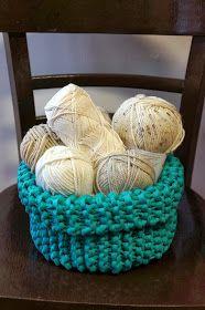 Kukuruku - Shop: Návod na pletený košík ze špagetové příze