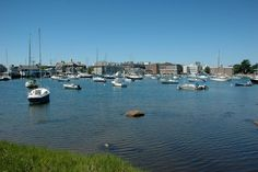 Looking across Eel Pond to the Marine Biological Laboratory (MBL) in Woods Hole