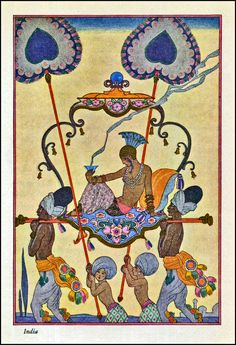 George Barbier. Art deco. French illustrator. India.