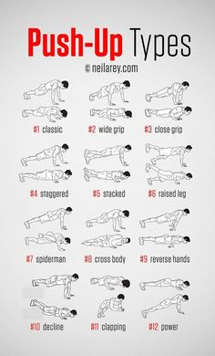 Push-Ups To Try permalink http://darebee.com/fitness/pushups-guide.html - Neila Rey - Google+