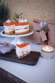 Lakkajuustokakku paahdetulla valkosuklaalla Raw Cake, Let Them Eat Cake, Food Inspiration, Cheesecake, Sweet, Party, Desserts, Cakes, Healthy