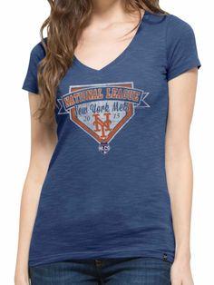 New York Mets 47 Brand Women 2015 NLCS MLB Postseason Scrum T-Shirt