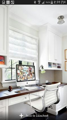 I love this quaint home office! (eclectic home office by Alan Design Studio) Furniture, Built In Desk, Interior, Home Office Cabinets, Home, Eclectic Home, Home Office Furniture Desk, Traditional Home Office, Office Design