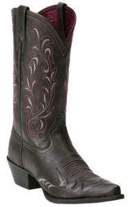 Ariat® Heritage™ Women's Vintage Black Wing Tip J-Toe Western Boot   Cavender's