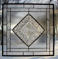 stained glass panel Crystal Satin & Lace