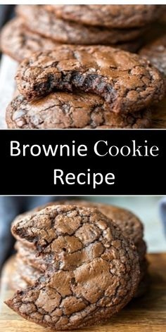 Brownie Cookies, Cookie Desserts, Christmas Desserts, Christmas Baking, Just Desserts, Delicious Vegan Recipes, Delicious Desserts, Yummy Food, Tasty