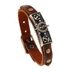 Only a few more left in stock! Leather Bracelet Anchor Bracelet Shop now:  http://www.herstyleinc.com/products/leather-bracelet-anchor-bracelet?utm_campaign=crowdfire&utm_content=crowdfire&utm_medium=social&utm_source=pinterest