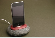 iPhone dock iPod dock stand charging station made of by GreenTape, $105.00