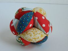 Baby Infant Toddler Toy Ball  Fabric Clutch Ball by lynnedowns, $15.00