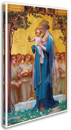Hand painted reproduction of virgin mary and child painting. This masterpiece was painted originally by Enric Monserday Vidal. Commission your beautiful hand painted reproduction of virgin mary and child. Divine Mother, Blessed Mother Mary, Blessed Virgin Mary, Religious Icons, Religious Art, La Madone, Images Of Mary, Mother Mary Images, Creation Art