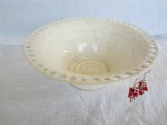 Large Ivory/Beige/White with Flecks Earring Holder Holds Hand Made from Wheel Thrown Pottery