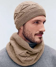 We Like Knitting: Men's Hat & Cowl - Free Pattern