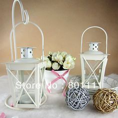 Mini white black  hanging lantern tea light holders wedding party Birthday favors home decoration valentine's day-in Candle Holders from Home  Garden on Aliexpress.com $40.00