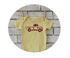Classic Truck Baby Onepiece Cotton Infant by CausticThreads