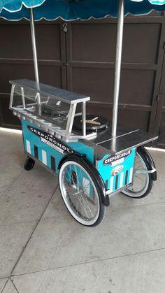 Food Stall Design, Food Cart Design, Food Truck Design, Food Cart Business, Food Trolley, Mobile Food Cart, Bike Cart, Bike Food, Velo Cargo