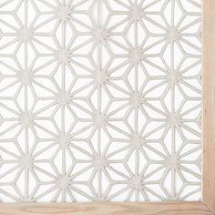 Framed Handmade Paper Wall Art - Gray Star | west elm