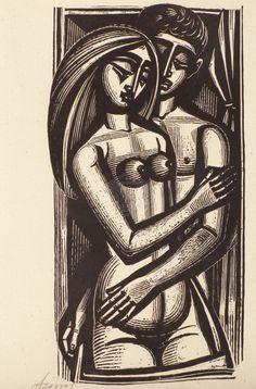 Linocut Prints, Art Prints, Greek Art, Canvas Poster, Sculpture, Wood Engraving, Erotic Art, Printmaking, Watercolor Art