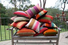 Peruvian Frazada Pillows - CUSTOM MADE using traditional frazadas