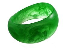 Big Bangle -  Plenitude Bangle - Lime White Marble, $35.00