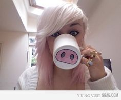 Buy white mugs and paint funny things on the bottom. (Pigs nose, Moustaches, etc...) make great gifts..