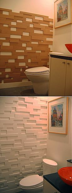 Accent Wall Ideas - An accent wall surface can be a fantastic addition to a living room, whether you intend to separate a huge space, or just add an interesting layout aspect. 28 Bathroom Wall Decor Ideas to Increase Bathroom's Value Diy Wand, Mur Diy, Fake Brick, Wall Design, House Design, Deco Originale, Bathroom Wall Decor, Room Decor, Bathroom Ideas