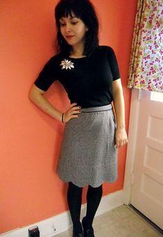 colette meringue in wool tweed (love in a suiting fabric!)