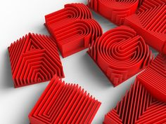 This is a typeface designed to be 3d printed or rendered-  The design uses 1mm wall thicknesses which seem to print very nicely on all 3d printers, and the simple and iterative appearance mimics heat sinks.