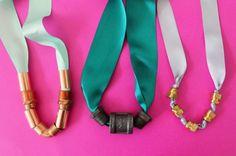Hardware Hack: DIY Ribbon Statement Necklaces | Brit + Co.