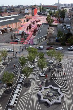 Zona-Arquitectura: Parque Urbano Superkilen_Copenhagen #Paisajismo