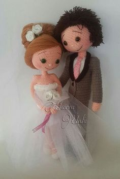 PATTERN Bride and Groom crochet amigurumi от HavvaDesigns на Etsy