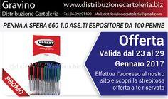 OFFERTA VALIDA DAL 23 AL 29 GENNAIO Consegna in tutta Italia Per vedere i prezzi clicca qui: http://shop.distribuzionecartoleria.biz/specials.html