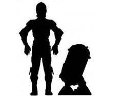 Image result for r2d2 3cpo order black and white silhouette stencil