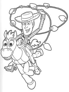 Toy Story Coloring Pages Books Party Operation Christmas Child Sheets Cricut Cartoons Crayon Art Vintage