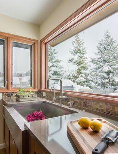 JJ Interiors - Golden kitchen prep sink www.jj-interiors.com